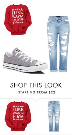 """Untitled #165"" by sierrapalmer10 on Polyvore featuring Genetic Denim and Converse"