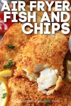 Air Fryer Fish Recipes, Air Frier Recipes, Air Fryer Dinner Recipes, Fried Fish Recipes, Salmon Recipes, Fish In Air Fryer, Seafood Recipes, Air Fried Fish, Air Fryer Healthy