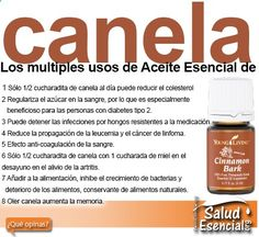 Los multiples usos de Aceite Esencial de canela www.saludesencial...