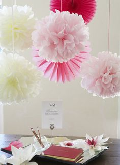 these tissue poms are super easy and quick to make. I made a bunch for party decor and everyone loved them. Still have a few up, actually!
