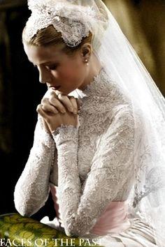 Grace Kelly - ślub kościelny z księciem Monako Rainierem III [19.IV.1956]