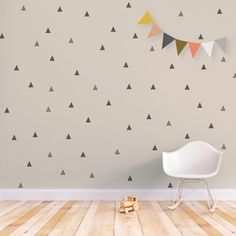 Triangle Wall Decal Baby Wall Decal Removable by trendypeasdecals