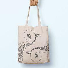 Kraken Octopus Illustration Pirate Tentacle Cotton Shopper Tote Canvas Bag Shopping Gym Books Long Handles Boy Girl Cotton GiftFor Life - Bild 🎀・☆・𝔤𝔢𝔣𝔲𝔫𝔡𝔢𝔫 𝔞𝔲𝔣・☆ ・𝔇𝔬-𝔦𝔱-𝔶𝔬𝔲𝔯𝔰𝔢𝔩𝔣 ℑ𝔡𝔢𝔢𝔫🎀 Source by nataliaeck Sacs Tote Bags, Diy Tote Bag, Cotton Tote Bags, Canvas Tote Bags, Reusable Tote Bags, Canvas Totes, Canvas Backpack, Tod Bag, Kraken Octopus