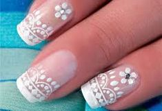 Love the lace details Nails Inc, Nail Shop, Cute Nail Designs, Hand Coloring, How To Do Nails, Art Day, Cute Nails, Lace Detail, Hair Beauty