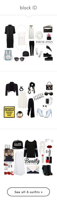 """""""black ID"""" by sekargupita on Polyvore featuring Finders Keepers, Yves Saint Laurent, Dolce&Gabbana, adidas Originals, Betsey Johnson, Marc Jacobs, months, Theory, The Row and Alexander McQueen"""