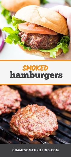 Smoked Hamburgers are a quick and easy dinner recipe on your electric pellet grill. If you are looking for a weeknight meal to make on the Traeger you have to try this smoked burger recipe that is full of flavor! Traeger Recipes, Grilling Recipes, Beef Recipes, Grilled Hamburger Recipes, Hamburger Steaks, Grilled Food, Tailgating Recipes, Grilling Tips, Barbecue Recipes
