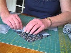 Flying Geese Quilt Block Speed Pieced Video...this is such a neat way, must try:)