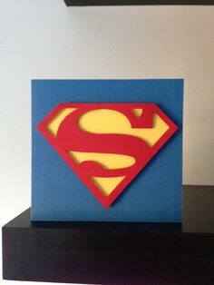 Superman inspired Handmade Card by RockPaperScissorCard on Etsy, £4.00
