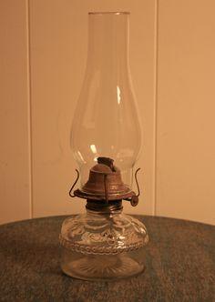 Vintage Oil Lamp - Kerosene Lamp - Turn Wick Dial