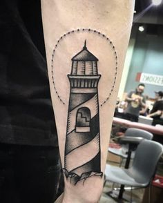Traditional Lighthouse Tattoo - http://tattooideas22.com/traditional-lighthouse-tattoo/