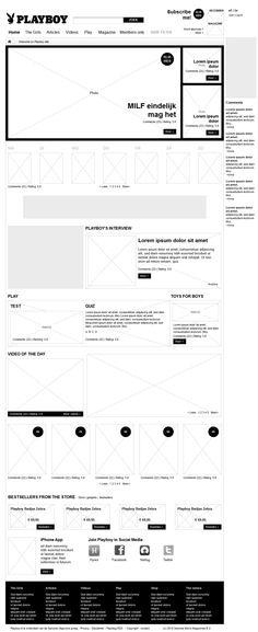 nice use of heavy blacks / Playboy NL - website redesign by Anna Jaworska, via Behance