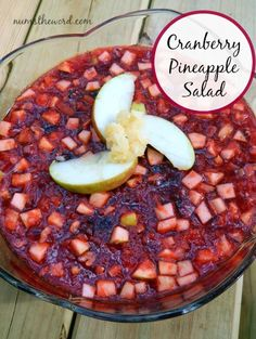 This tasty Cranberry Pineapple Salad is so easy to make. It's delicious, festive and makes the perfect side dish to any family dinner or Holiday.