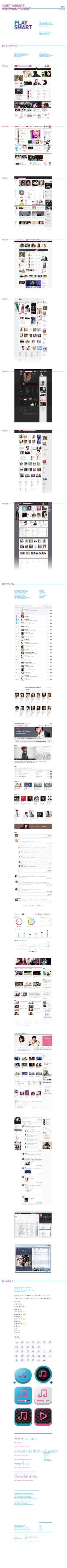 mnet website by PlusX  / UI Design