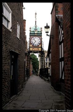 Chester's famous clock tower