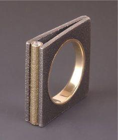 Ring | Maria Samora - Sterling silver, 18k gold, diamonds: