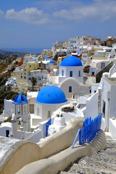 The famous Santorini postcard picture Discovered by Ana Patrascu at Oia, Greece, Oia, Greece