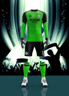 Men's Full Soccer Goalkeeper Kit mockup on Behance Adidas Soccer Jerseys, Soccer Uniforms, Soccer Shirts, Football Jerseys, Sports Shirts, Football Shirt Designs, Football Design, Football Kits, Sport Shirt Design