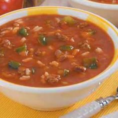 Unstuffed Pepper Soup Recipe. We made this together for our anniversary one year and it was great!