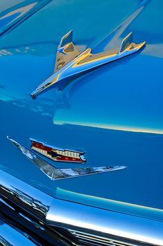 1956 Chevrolet Hood Ornament - Car Images by Jill Reger