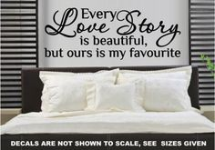 Our Love Story Romantic Quote Wall Art Sticker Vinyl Decal Various Sizes Quote Wall, Wall Art Quotes, Sticker Vinyl, Wall Decals, Bird Wall Art, Smooth Walls, Romantic Quotes, Beautiful Wall, Vinyl Designs