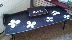 Maple coffee table painted and distressed