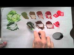 Colour wheel Red & Green Complementary colour mixing basics