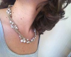 Collier lin & perles #2 - Photo de Petits bijoux... - La Poudre d ...