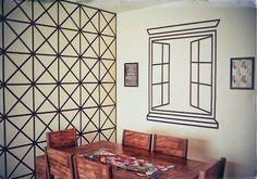 Decorando paredes com fita isolante - Reciclar e Decorar - Blog de Decoração, Reciclagem e Artesanato
