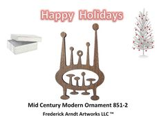 8512 Mid Century Modern Ornament by FredArndtArtworks on Etsy, $14.95
