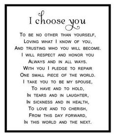 I choose you. This is beautiful by jcundiff