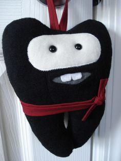 Ninja Tooth Fairy Pillow... for the little boys! cute!