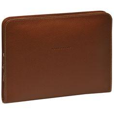 iPad case - Veau Foulonné - Accessories - Longchamp - Cognac - Longchamp United-Kingdom