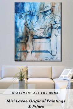 Unique large masculine art piece with a statement. Best selling item. Art by Miri Lavee