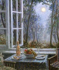 """De Stephen  J.Dabirshire © """" celebrating the full moon """""""