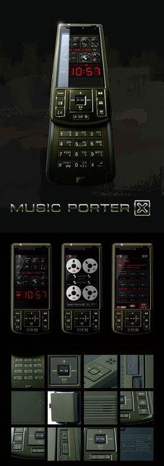 MUSIC PORTER X|Product Design|CLIENT: NTT DOCOMO, Mitsubishi Electric Corporation