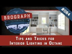 (1) Brograph Tutorial 064 - Interior Lighting with Octane in Cinema 4D - Tips and Tricks - YouTube
