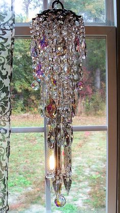 Mystical Crystal Antique Wind Chime by sheriscrystals on Etsy, $249.95