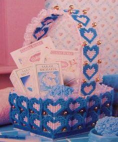 Denim Heart Baskets Plastic Canvas Pattern | eBay
