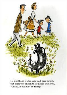 "Artist: Margaret Bloy Graham. For children's book ""Harry the Dirty Dog."""