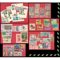 #Asia Grouping of #stamps. #Japan, #Indonesia, #Korea, #Macau, #Hong Kong and #China #Philately