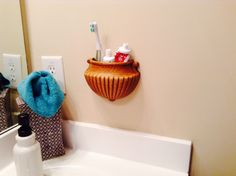 Toothpaste and electric toothbrush holder.