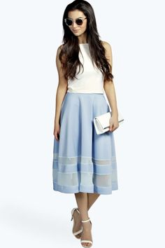Ivy Double Mesh Midi Skirt alternative image