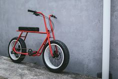 An adult bicycle inspired by kids' mini-bikes from the and The Ruckus has a beautiful chromoly frame and a custom fork and handlebar combo, a Pedal Pushers, 3rd Wheel, Pedal Cars, Mini Bike, Motorbikes, Cycling, Bicycles, Electric Cycles, Kids Cars