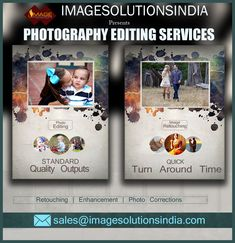 World's Best Digital Photo Editing Services is Image Solutions India. We are in this image editing felid for more than a decade and are well known for latest trend updates we develop standard quality photographs with help of our image editing experts. We develop any quantity of image order with in fast turnaround time.