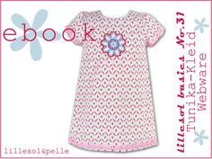 Ebook / Schnittmuster lillesol basic No.31 Tunika-Kleid Webware