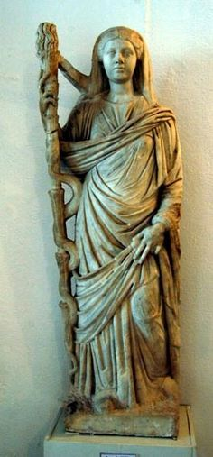statue of Demeter - Roman period 2th century CE, now Bardo Museum