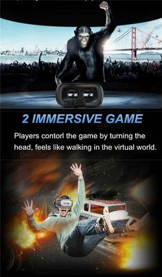 01eafbdd003b VR BOX 2.0 Virtual Reality 3D Glasses IMAX Video Movies Game Glasses With  Remote And Protector For 3.5-6 Inch Smartphone Sale - Banggood.com