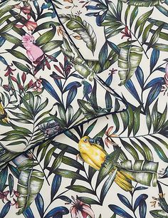 Buy the Kiera Tropical Bird Print Bedding Set from Marks and Spencer's range. Color Test, Tropical Birds, Bird Prints, Cool Items, Bed Spreads, Cool Things To Buy, Painting, Shake, Master Bedroom