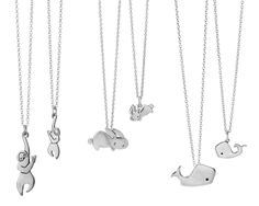 Mother & Daughter Necklaces - cute!  (Uncommon Goods)