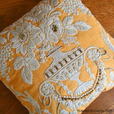 embroidered cushion NO.2